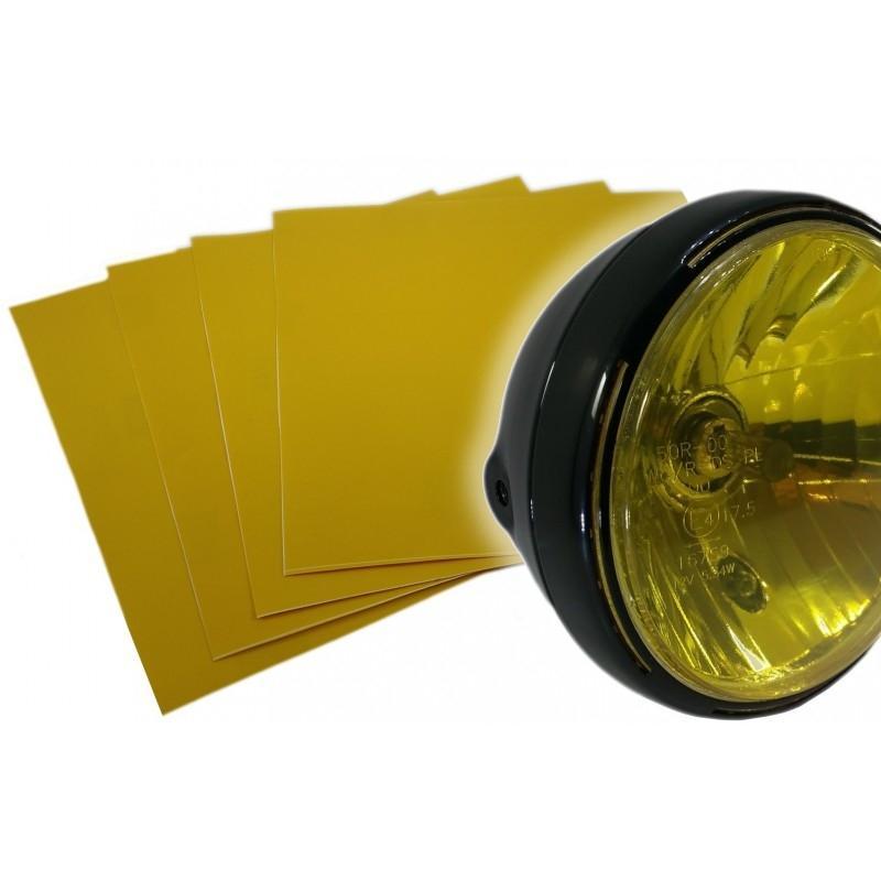 Film vinyle jaune transparent Brazoline pour phare