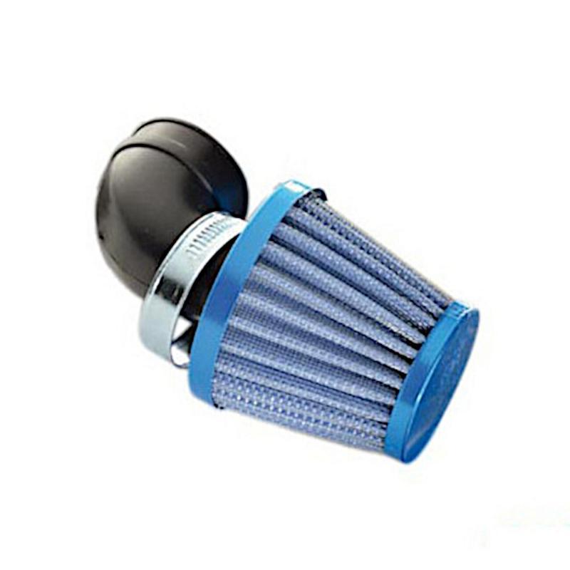 Filtre à air 1Tek type KN 90° D.28-35 Bleu