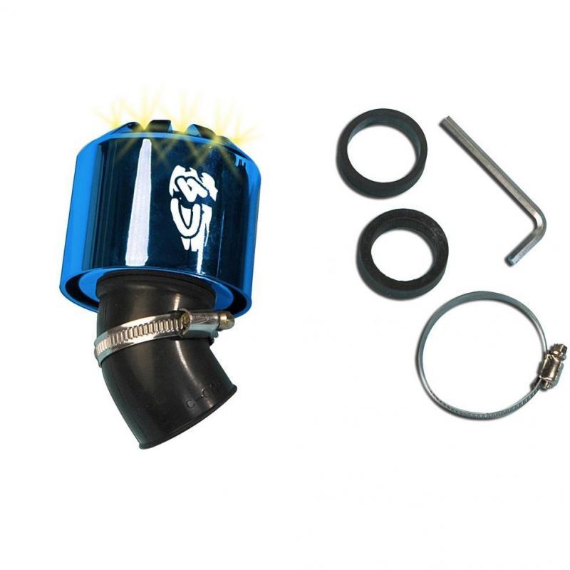 Filtre à air C4 45° 35-28 mm bleu à LED