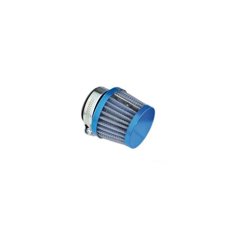 Filtre à air conique Ø28-35 droit bleu