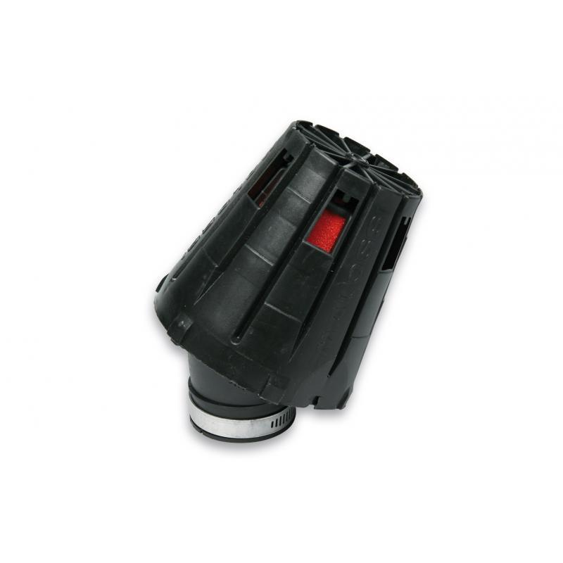 Filtre à air Malossi Red Filter E5 D.38 incliné 30° couvercle noir