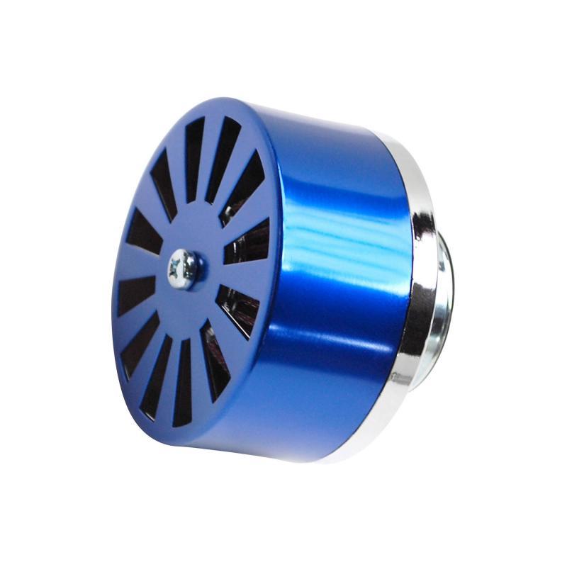 Filtre à air Replay débit réglable bleu fixation droite D. 35/28