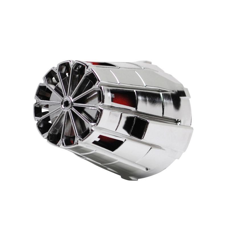 Filtre à air Replay E5 box chrome mousse rouge coude 45° D. 35/28