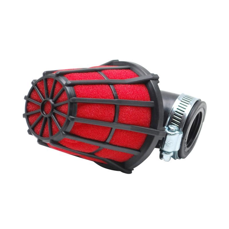 Filtre à air Replay hexagonal noir mousse rouge fixation coude 90° D. 35/28