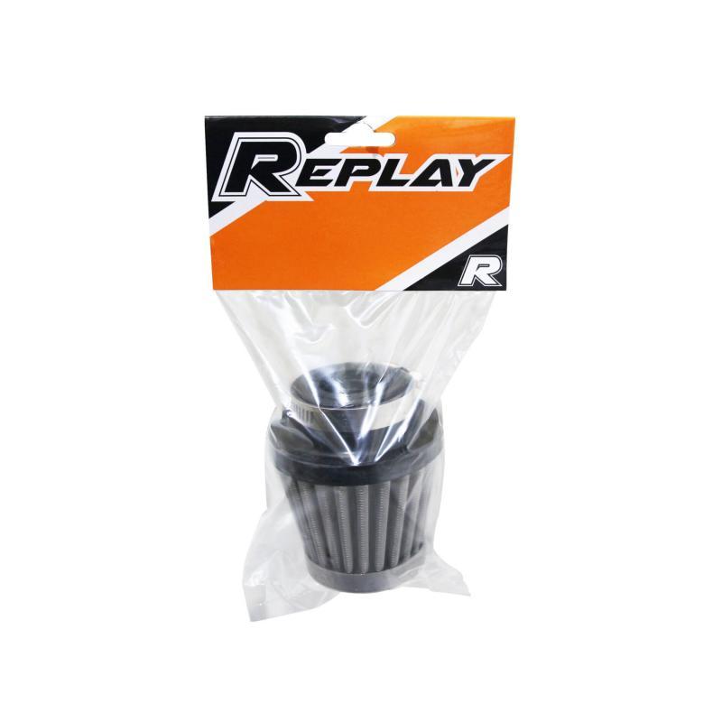 Filtre à air Replay KN grille acier inox chrome D. 35/28