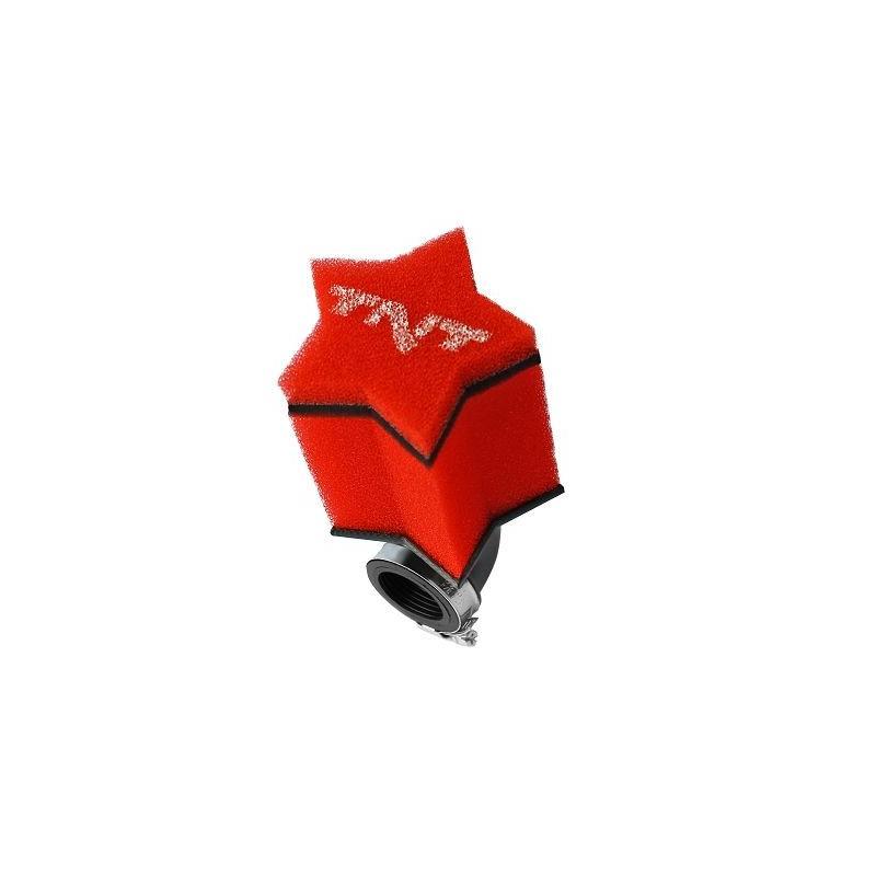 Filtre à air TNT Mousse Star 0° Ø28/35 Rouge