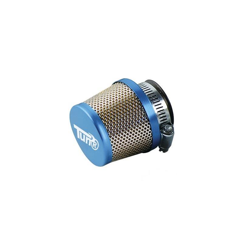 Filtre à Air Tun'R D28-35 Conique Grille Droit Bleu/Chrome