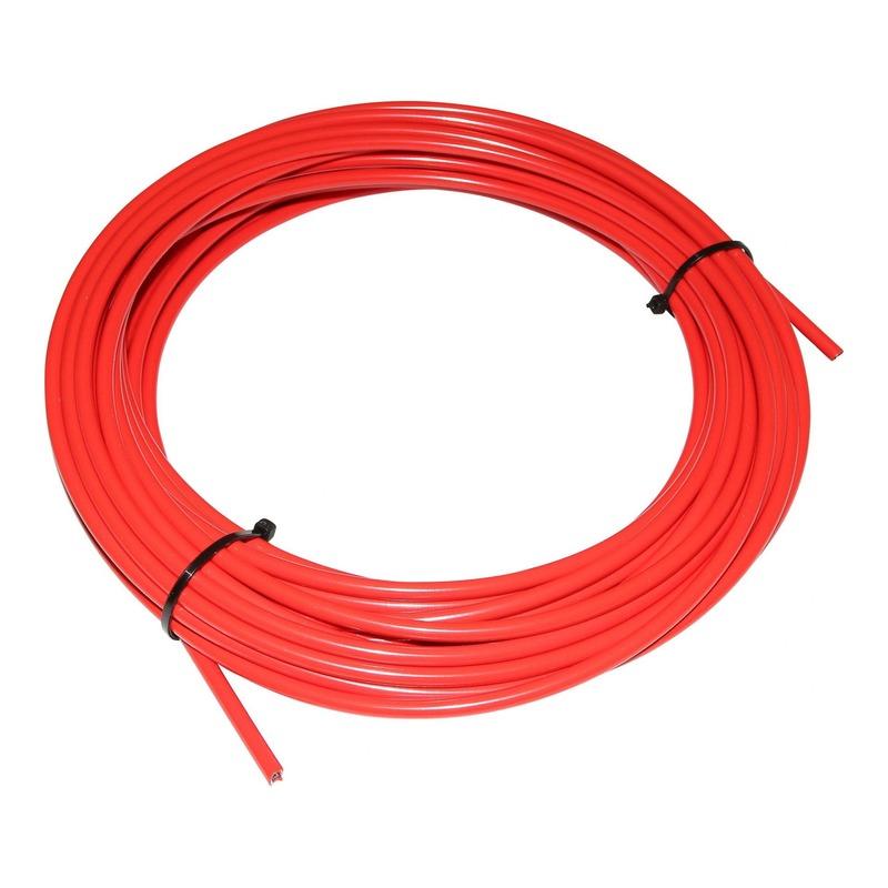 Gaine de frein Fibrax Ø5mm avec liner téflon rouge (15m)