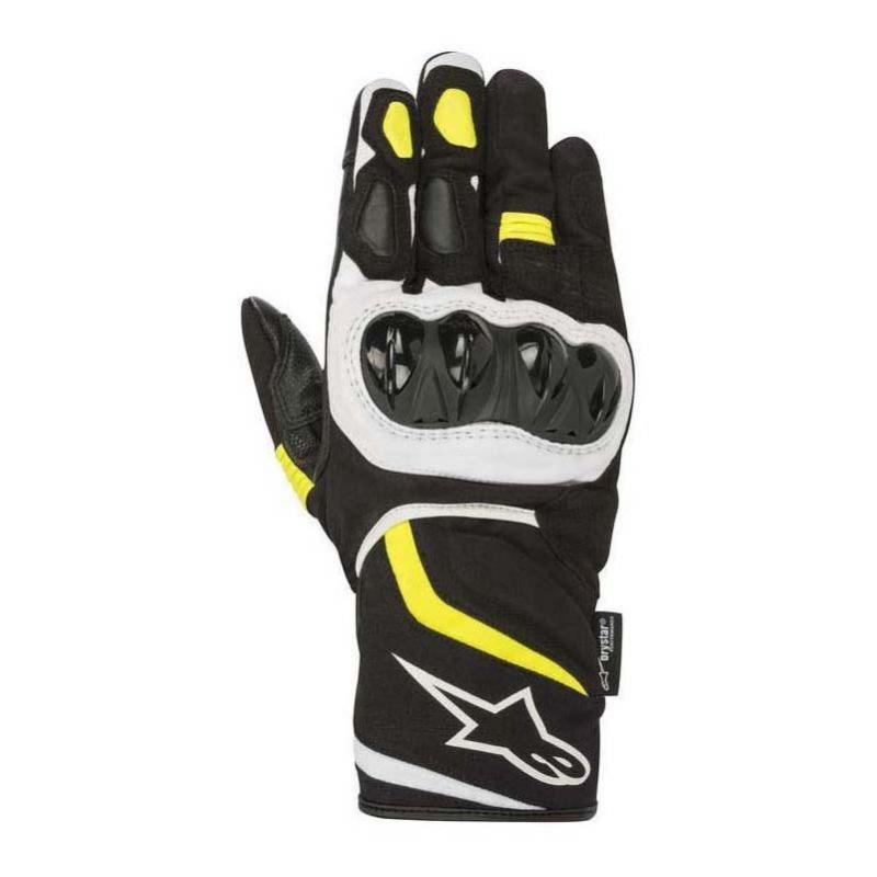 Gants Alpinestars T-SP W Drystar noir noir/jaune fluo