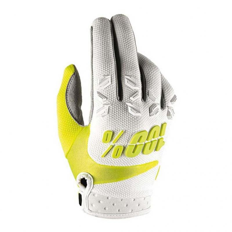 Gants cross 100% Airmatic blanc