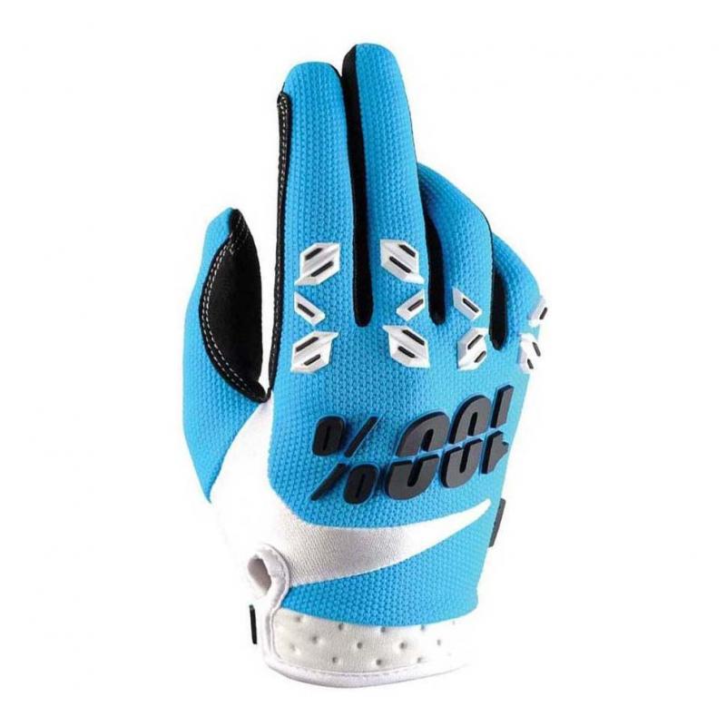 Gants cross 100% AIRMATIC bleu