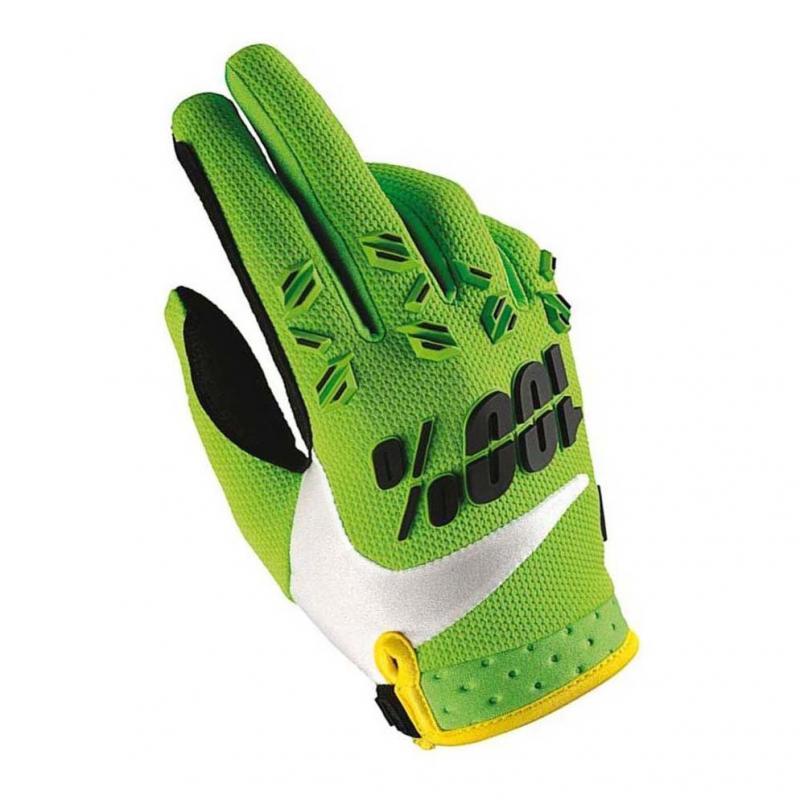 Gants cross 100% Airmatic vert