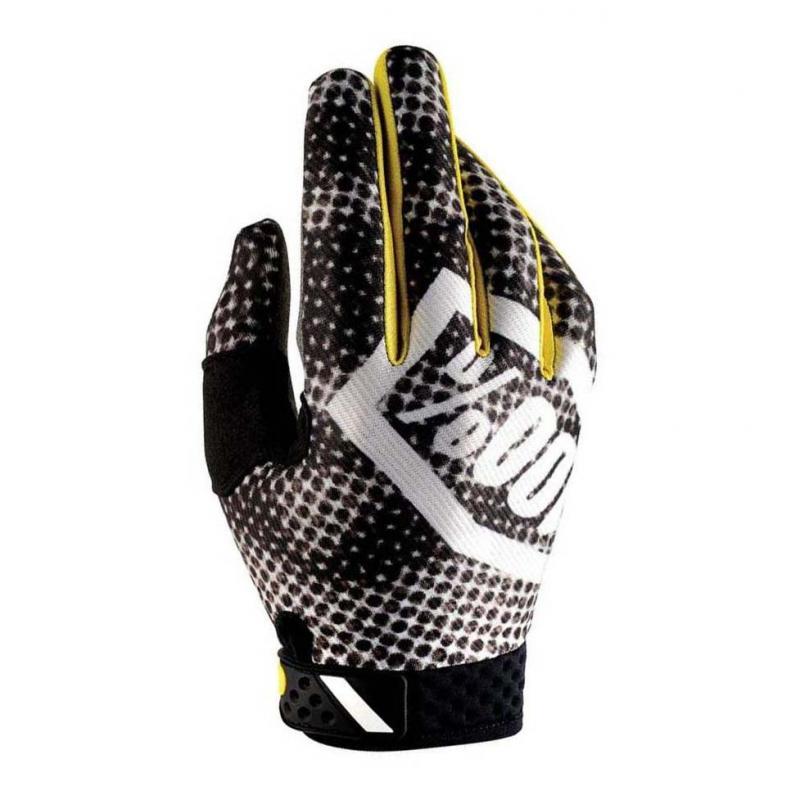 Gants cross 100% RIDEFIT CORPO SNOCAMO noir/jaune