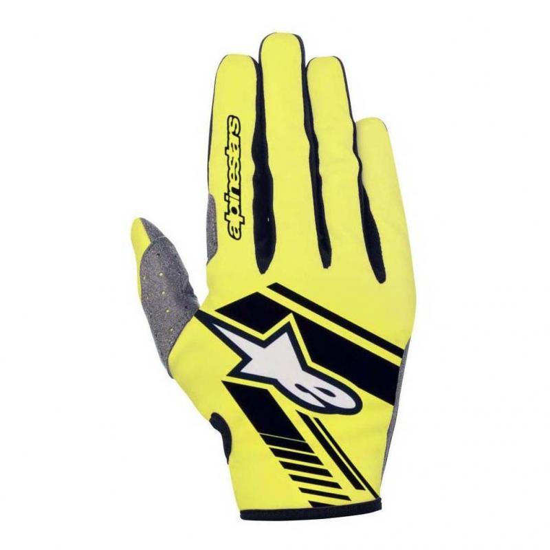 Gants cross Alpinestars Neo jaune fluo/noir