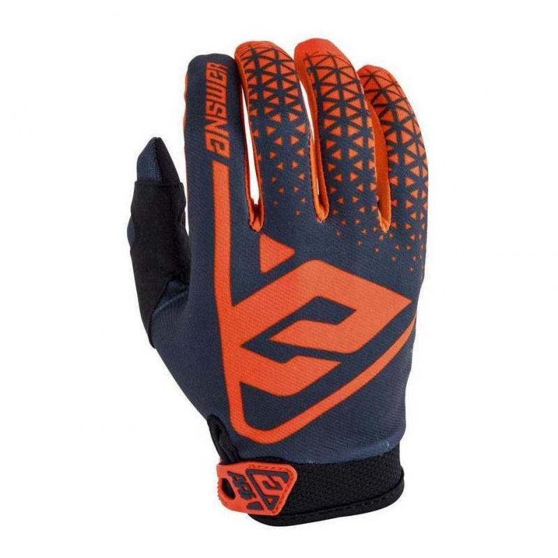 Gants cross Answer AR1 orange fluo/charcoal