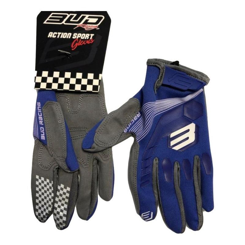 Gants cross Bud Racing Bud MX 2501 bleu