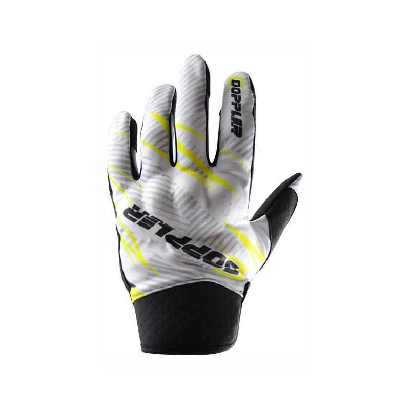 Gants cross Doppler blanc / jaune / noir