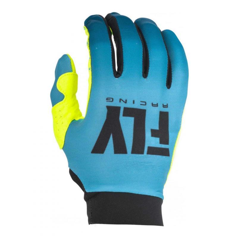 Gants cross femme Fly Racing Pro Lite bleu/jaune