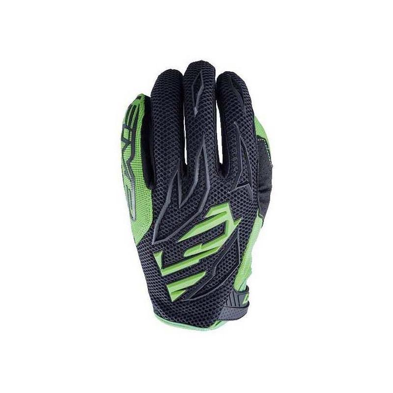 Gants cross Five MXF3 noir/vert fluo