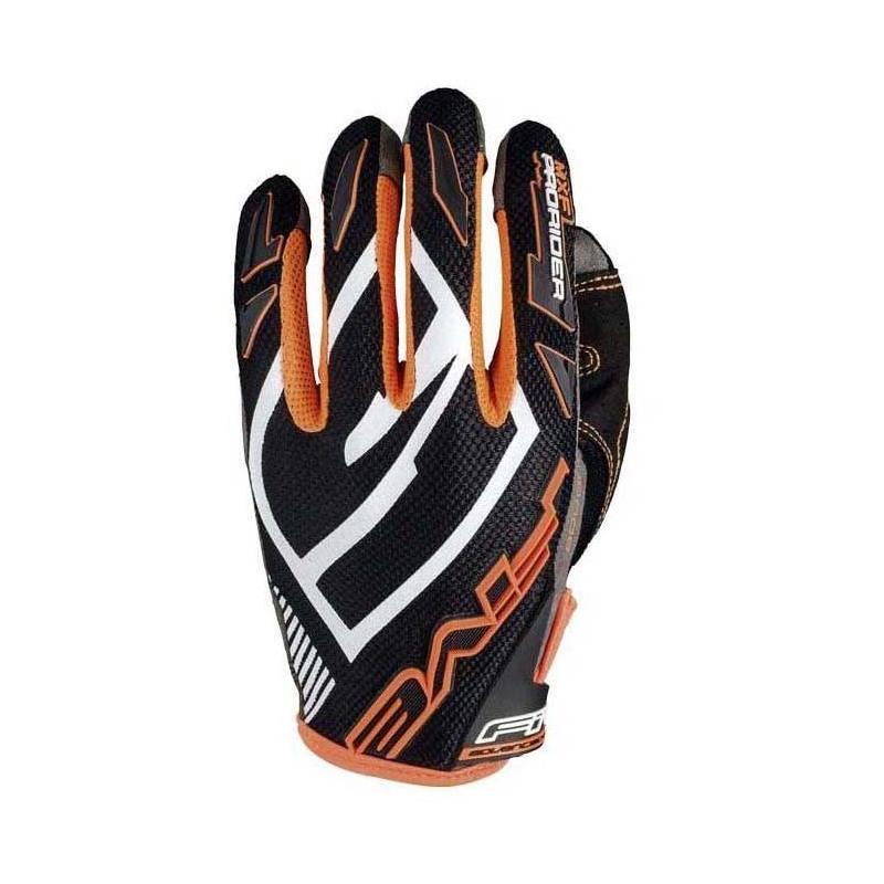 Gants cross Five MXF PRORIDER S noir/orange fluo