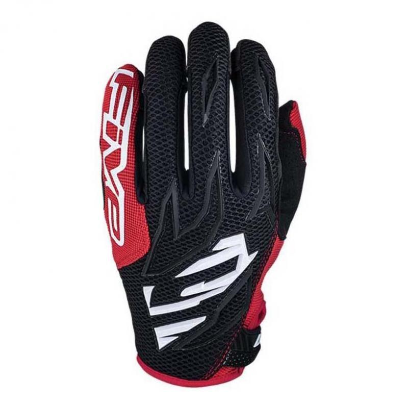 Gants cross Five MXF3 noir/blanc/rouge