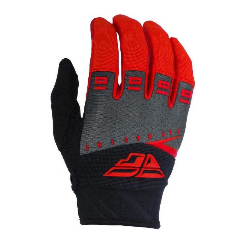 Gants cross Fly Racing F-16 rouge/noir/gris