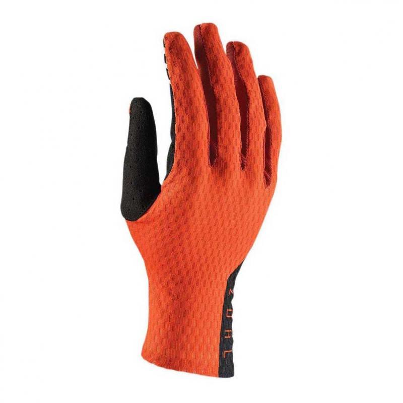 Gants cross Thor Agile rouge orange/noir