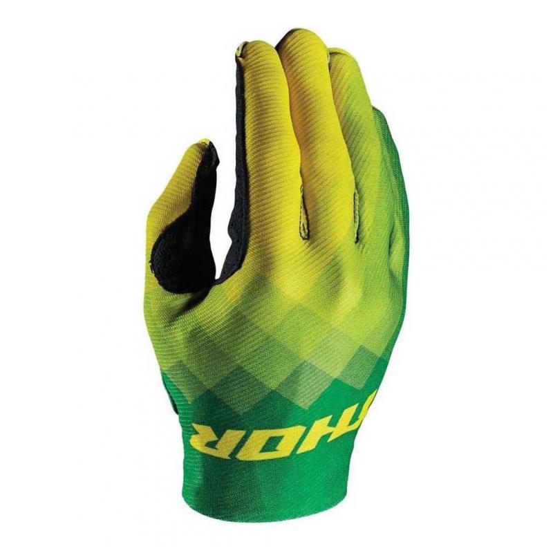 Gants cross Thor INVERT Pix vert/jaune