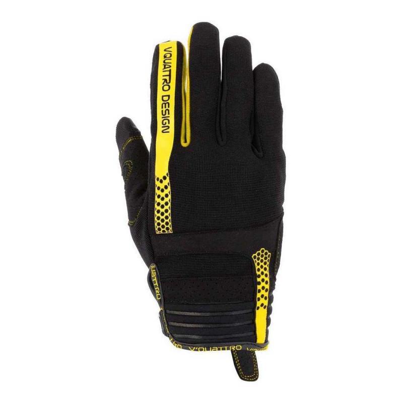 Gants cross V'Quattro Rush 18 noir/jaune