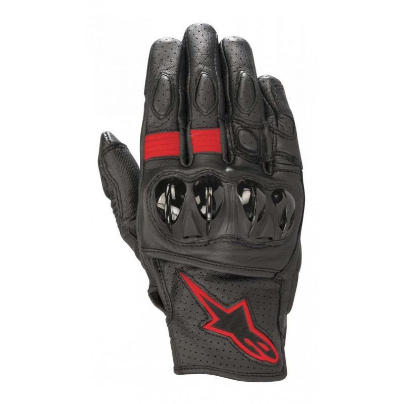 Gants cuir Alpinestars Celer V2 noir/rouge fluo
