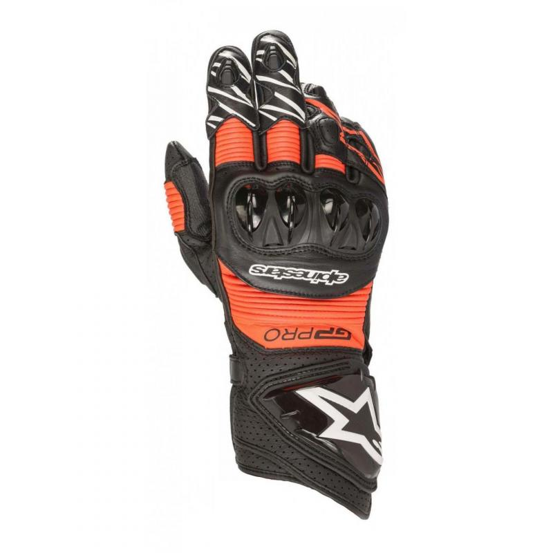 Gants cuir Alpinestars GP Pro R3 noir/rouge fluo