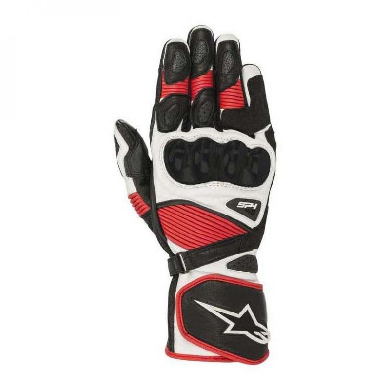 Gants cuir Alpinestars SP-1 V2 noir/blanc/rouge