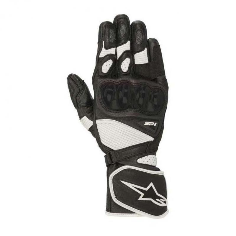 Gants cuir Alpinestars SP-1 V2 noir/blanc
