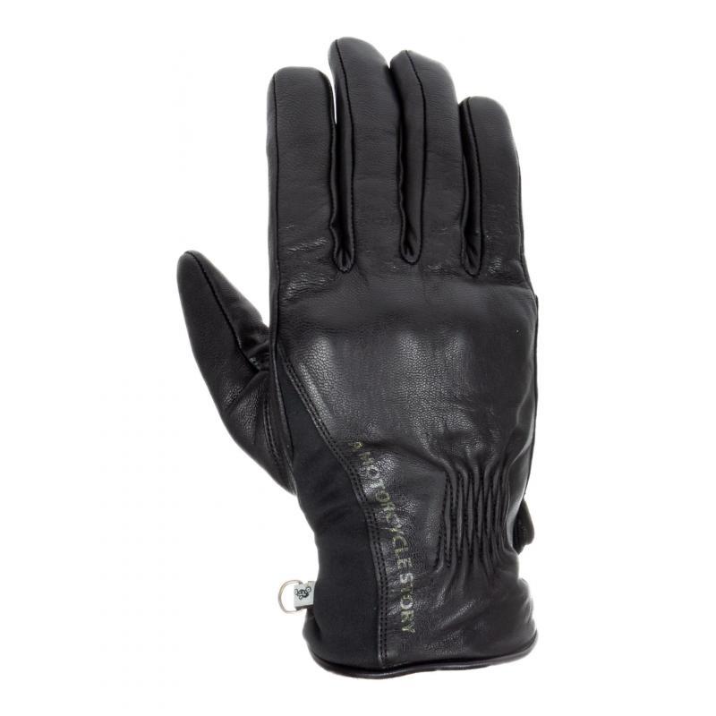 Gants cuir Helstons Pure noir