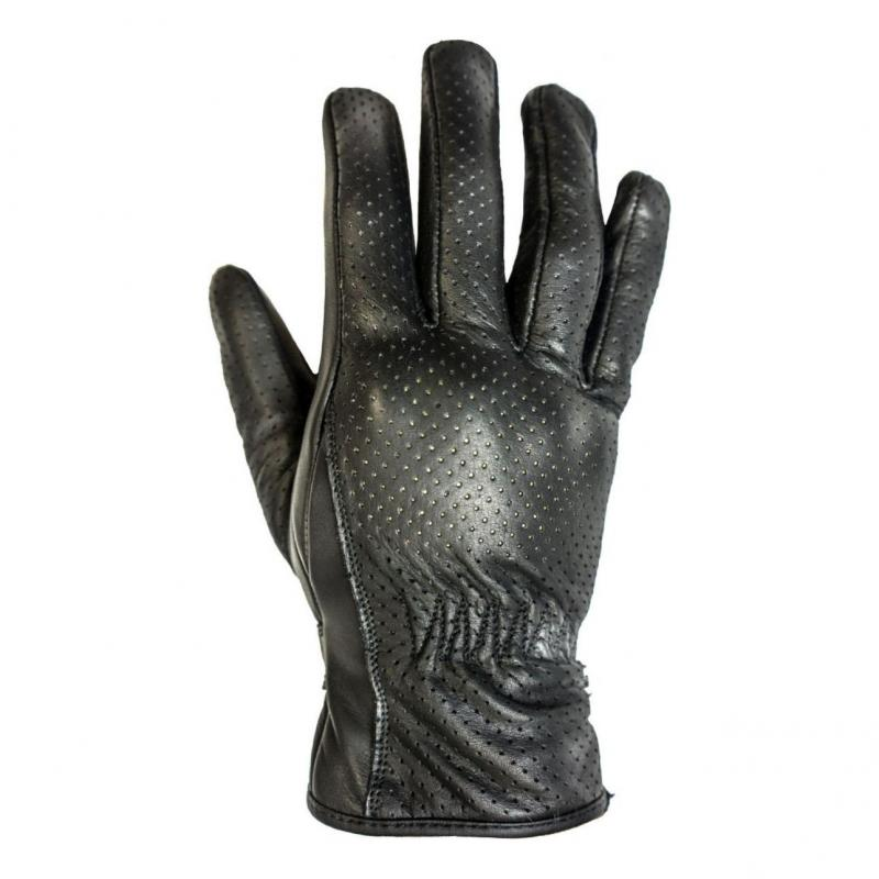 Gants cuir perforé Helstons Basik noir
