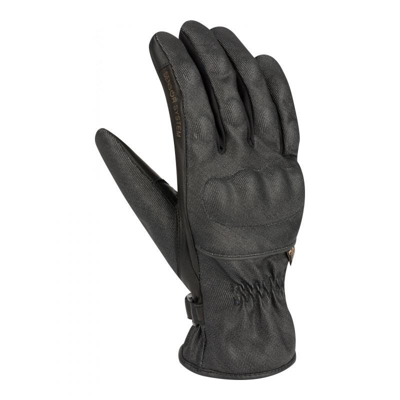Gants cuir/texile Segura Elio noir