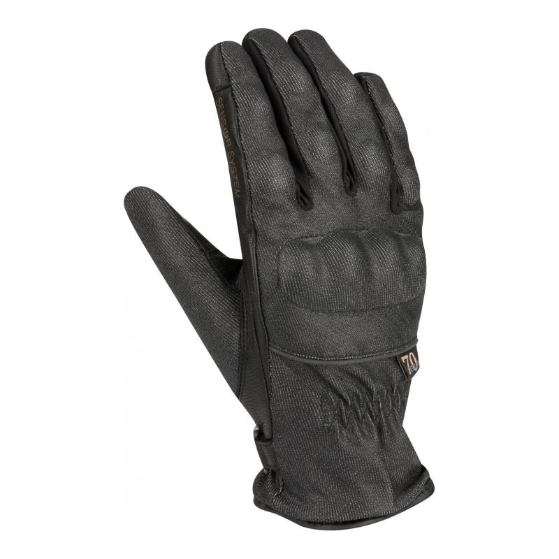 Gants cuir/texile Segura Lady Elia noir
