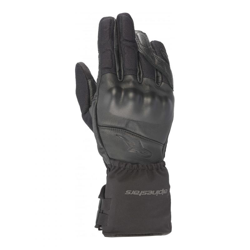 Gants cuir/textile 4en1 Alpinestars 365 Waterproof Gore-tex noir