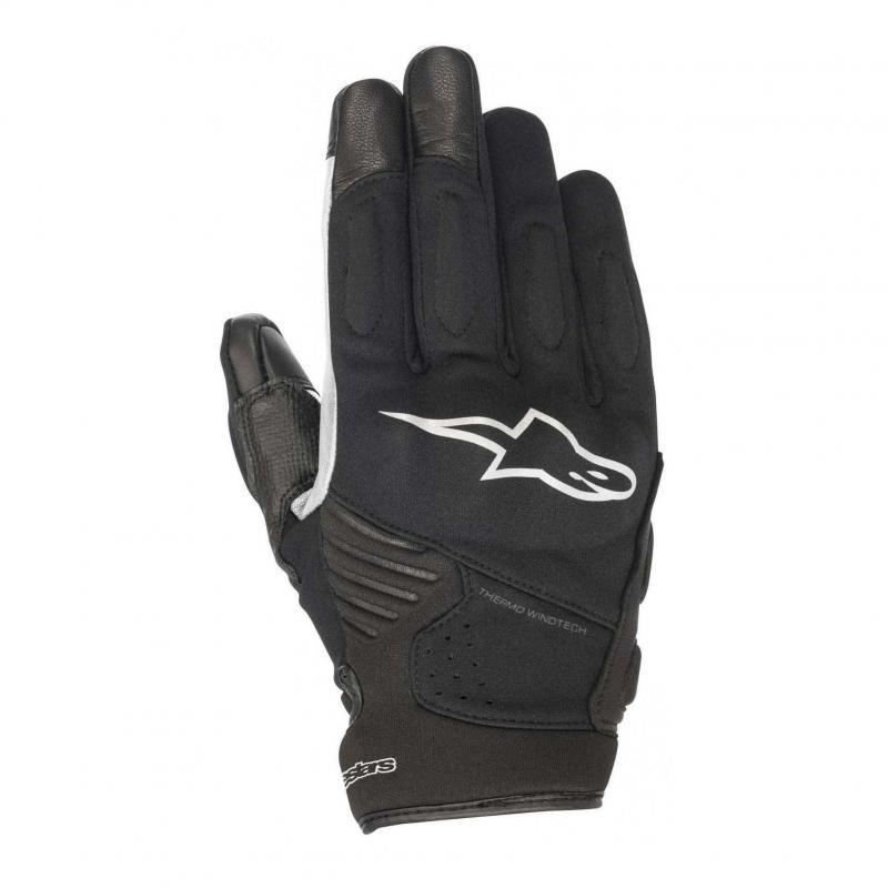 Gants cuir/textile Alpinestars Faster noir/blanc