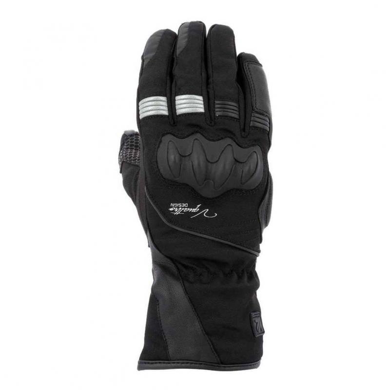 Gants cuir/textile femme V'Quattro Lady Sport Tourer 18 noir