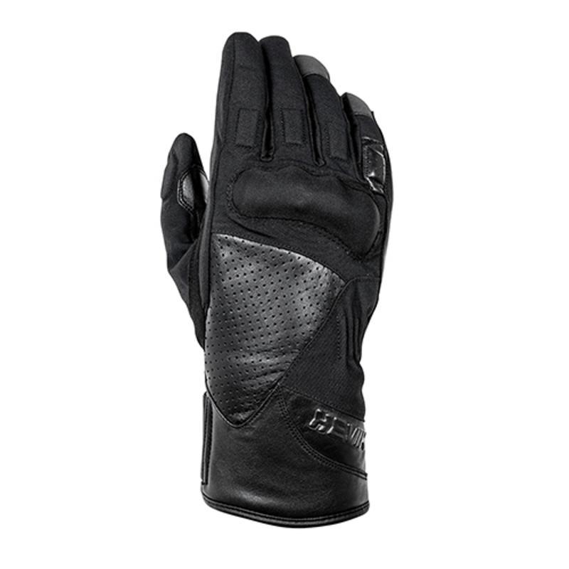 Gants cuir/textile Hevik Rock Dark R noir