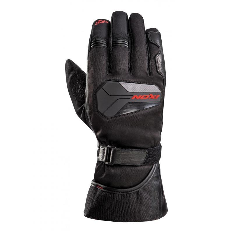 Gants cuir/textile Ixon Pro Atom noir/rouge