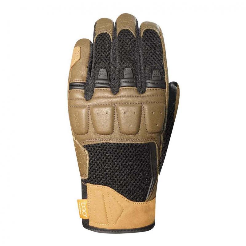 Gants cuir/textile Racer Ronin noir/sable