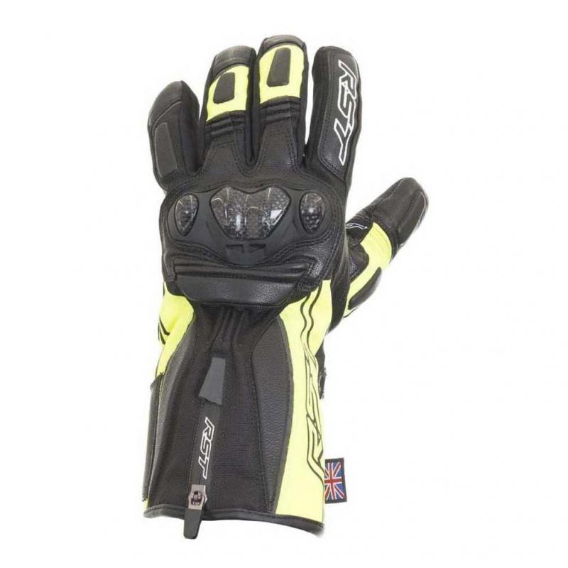 Gants cuir/textile RST Paragon V waterproof jaune fluo