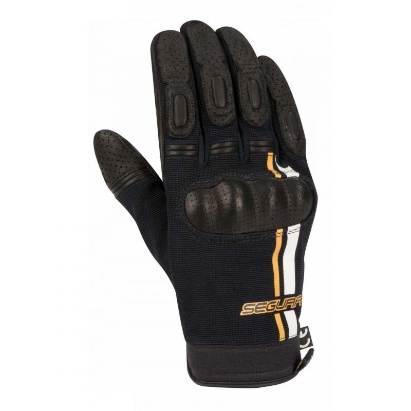 Gants cuir/textile Segura Scotty noir