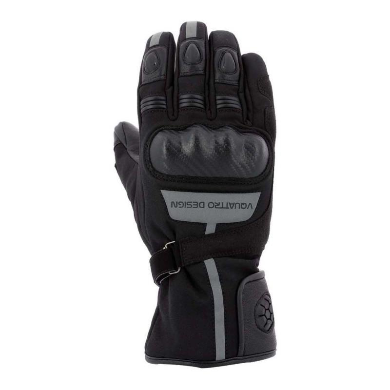 Gants cuir/textile V'Quattro Burn 18 noir