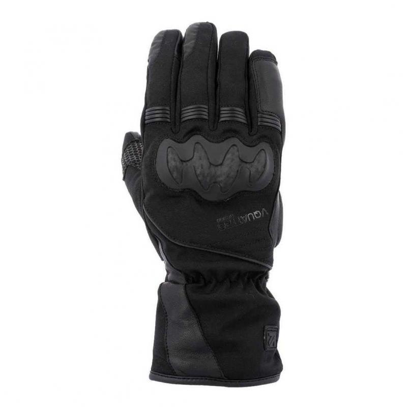 Gants cuir/textile V'Quattro Sport Tourer 18 noir