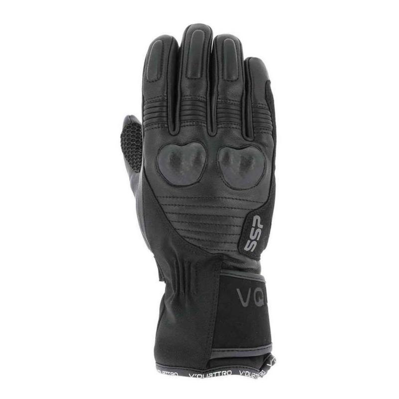 Gants cuir/textile V'Quattro SSP04 18 noir