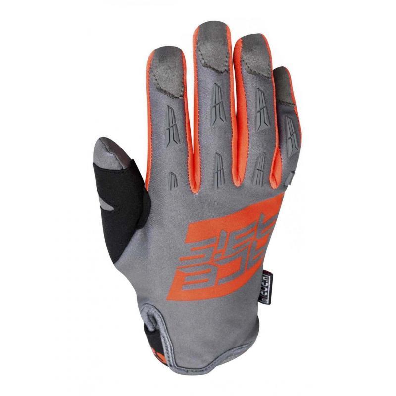 Gants enduro Acerbis MX WP orange/gris
