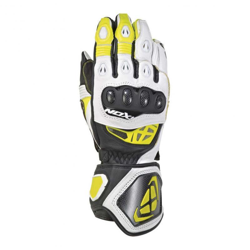 Gants été cuir Ixon RS Genius 2 noir/blanc/jaune vif